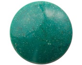 Vintage Teal Speckled Faux Stone Acrylic Cabochons 30mm (2) cab841C