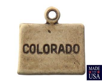 Brass Ox Tiny Colorado State Charm Drops (2) chr204Z
