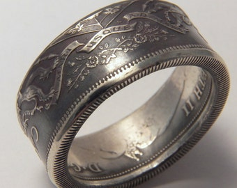 Special order 2 Canada Silver coin ring year 1966 you pick size 9 to 13 unique gift