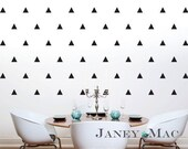 Vinyl Triangles Wall Decal - Childrens Bedroom Nursery Triangle Wall Art - Vinyl Wall Decor - Gender Neutral Room - HWL170