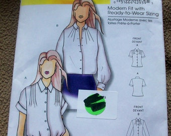 Butterick B5365 Misses Women's Blouse  Sewing Pattern
