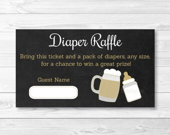 BBQ Baby Shower Diaper Raffle Tickets / BaByQ Shower / Baby Is Brewing / Coed Baby Shower / Printable INSTANT DOWNLOAD A116