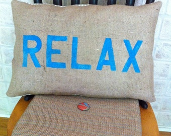 Burlap Relax pillow