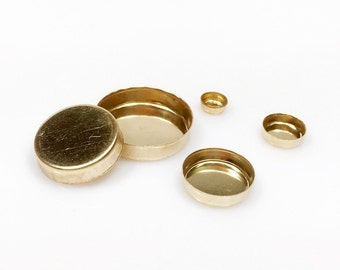 10pcs x Round 4mm Bezel Cups 14k Gold Filled (RD40GF)