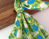 Itty Baby Animals Green Baby Blanket Flannel Swaddler