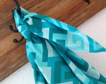 Baby Blanket Swaddler Michael Miller Maze Turquoise: Light Receiving Blanket