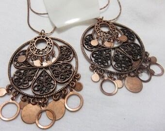 Charlotte Russe Copper Tone Dangle Necklace