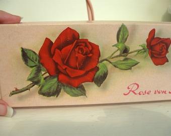 Rose Litho Candy Box German Rose Soap Box Abenin Rose Von Stambul