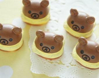 5 pcs Kawaii Bear Dome Cake Cabochon (17mm19mm) CD579