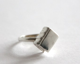 Book Ring, Sterling Silver, Book lover Gift, Handmade in Brighton, uk