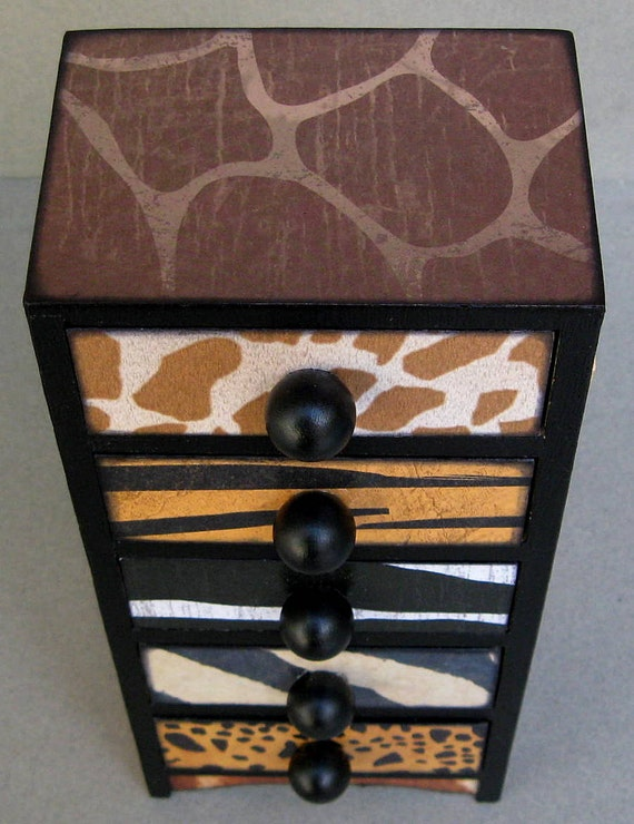 Reserve for tlaurox Animal Print Safari Keepsake Trinket Organizer Box