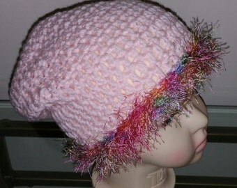 Pink Slouchy Beanie for Little Girl/toddler