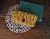 clutch purse ~ crochet clutch ~ mustard yellow