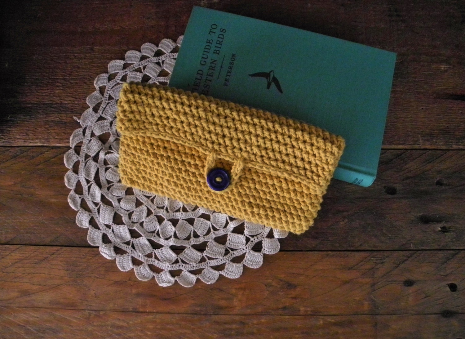 Clutch Bag Crochet : sale clutch purse crochet clutch mustard yellow by LittleDande