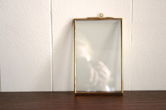 vintage brass trimmed double sided frame