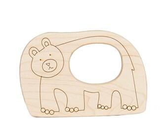 Bear Wood Toy Teether