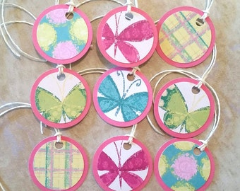 Butterfly Gift Tags - Set of 9