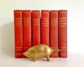 Mid Century Modernist Brass Pig Figurine