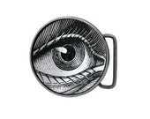 Belt buckle Eye Anatomy Anatomical Antiqued Silver Gifts for him Gifts for her