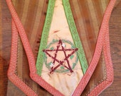 "Banner Bag - ""Wood Witch"" Embroidered Celtic Medieval Purse"
