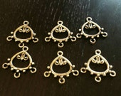 SALE !!! Pewter Bali Scroll Chandelier Findings ... set of 6