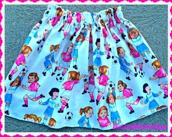 Girls Soccer skirt Alexander Henry Soccer girls 2t 3t 4t 4/5 6/6x 7/8 10/12 Ready to Ship