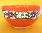 Orange Ceramic Serving Bowl