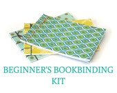 SALE - Bookbinding Craft Kit DIY - Make Three Japanese Stab Notebooks
