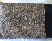 Toddler/Travel Pillowcase: Leopard print with a black band.