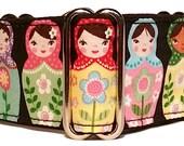 "Celebrating Russian Matryoshka Dolls 2"" Martingale Collar-"