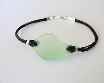 Seaglass bracelet, Green Beachglass, bracelet Graduation Gift, gift for woman, gift for her, beach bracelet, ready to ship