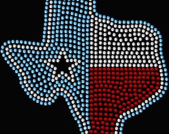 Texas State Star Hotfix Spangle Transfer