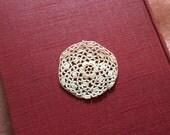Vintage 9 Round Rose Lace Applique Pieces