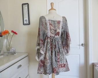 Vintage Terri Juniors Lace hippie dress - size small
