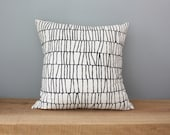 "18"" Organic Cotton Pillow - THATCH - housewares - decorative - american made"