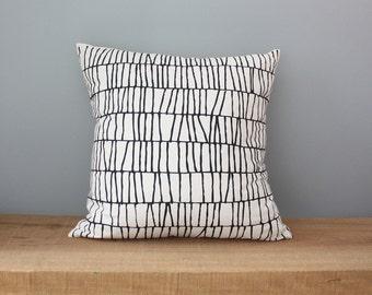 "18"" Organic Cotton Pillow - THATCH - housewares - decorative - american made"