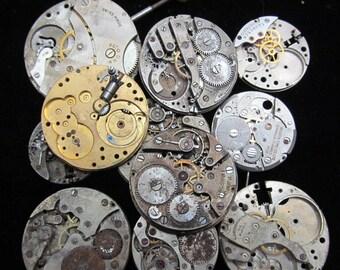 Destash Steampunk Watch Parts Movements Cogs Gears  Assemblage XX 83