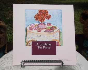 "Children's Book, ""A Birthday Tea Party"", Large Print, Heavily Illustrated, Sure to be a Children's Classic, Childrens Story Book,"