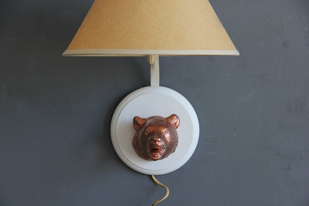 Rose Gold Wall Lamps : Rose Gold Bear Wall Sconce Light by GallivantingGirls on Etsy