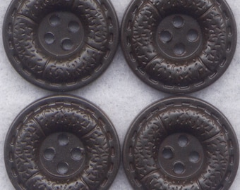 Dark Chocolate Buttons Textured Acrylic Buttons 20mm (7/8 inch) Set of 8 /BT101