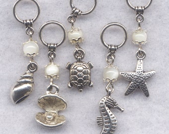 Seaside Knitting Stitch Markers Ocean Dream Vacation Tropical Island Set of 5/SM179