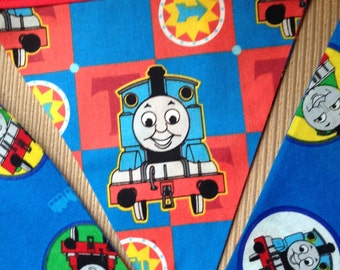 Thomas The Tank Engine - Party,  Birthday, Playroom, Classroom Decorating 5 Bunting Flags 4.5 feet
