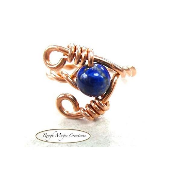 unique gemstone ring blue lapis lazuli by