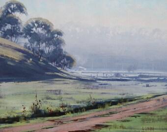Landscape Oil Painting Winter Painting canvas artwork