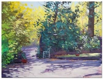 Garden Painting Impressionist landscape Canvas Art Original oil Painting Gercken