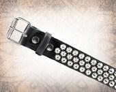 Conical Stud Belt - Wide Steel - Studded Leather Belt, Studded Belt, Leather Belt, Mens Leather Belt, Women's Leather Belt, Belt