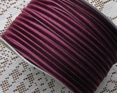 2 Yards Tiny Velvet Ribbon Trim Burgundy 1/8 Inch Wide 3.175mm Wide