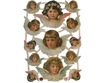 Made In Germany Lithographed Paper Angel Die Cut Scraps Christmas Easter 7315