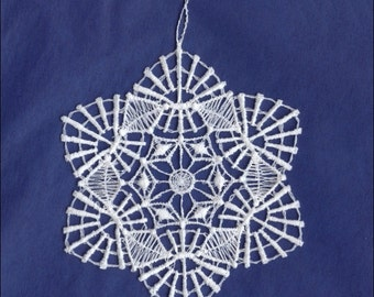 Germany Woven Cotton Thread Christmas Snowflake Ornament For Crafting  LHS006