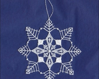 Germany Woven Cotton Thread Christmas Snowflake Ornament For Crafting  LHS008